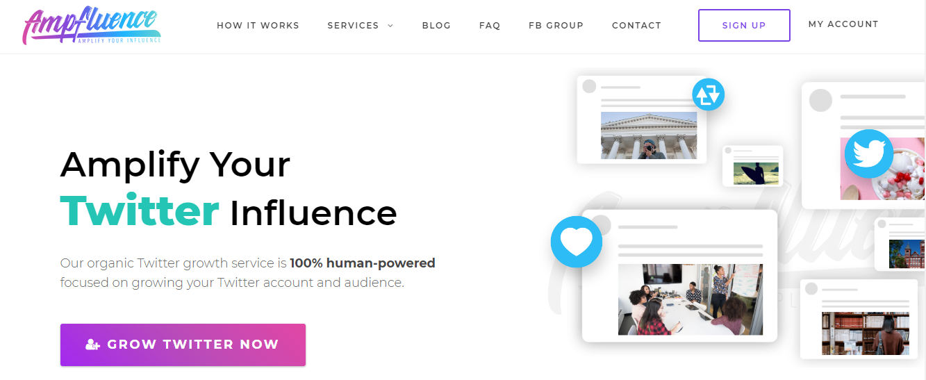 Ampfluence - twitter growth services