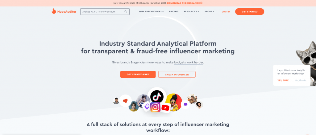 hypeauditor - Influencer Audit Tools