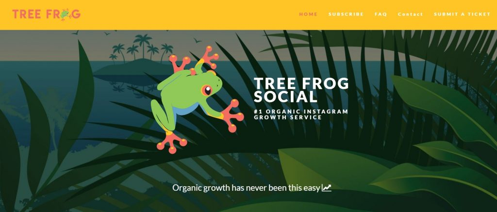 Tree Frog-Instagram Growth Services