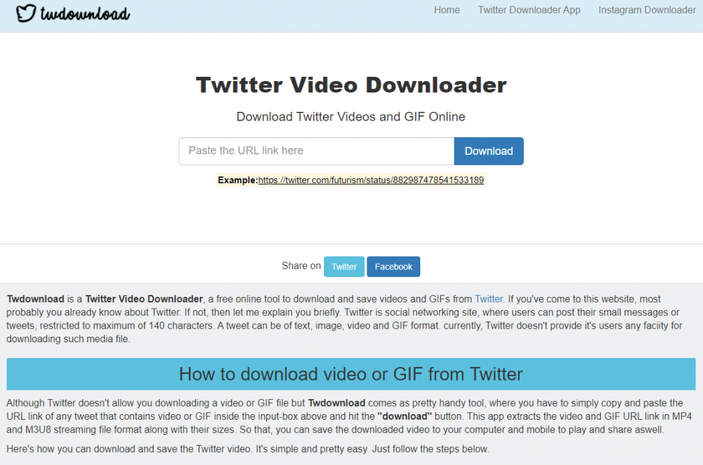 Video, GIF downloader for Twitter